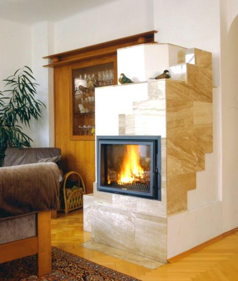 Kamin-Biofire-Brennholz
